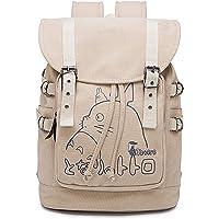 HAMIQI Anime My Neighbor Totoro School Bag Tokyo Ghoul Backpack Attack on Titan Backpack Bookbag Bucket Bag Shoulders…