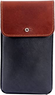 product image for Col. Littleton Genuine Leather Large Phone Holster with Belt Loop   Black/Brown