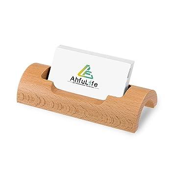 Ahfulife Visitenkartenhalter Aus Holz Personalisierbar Für