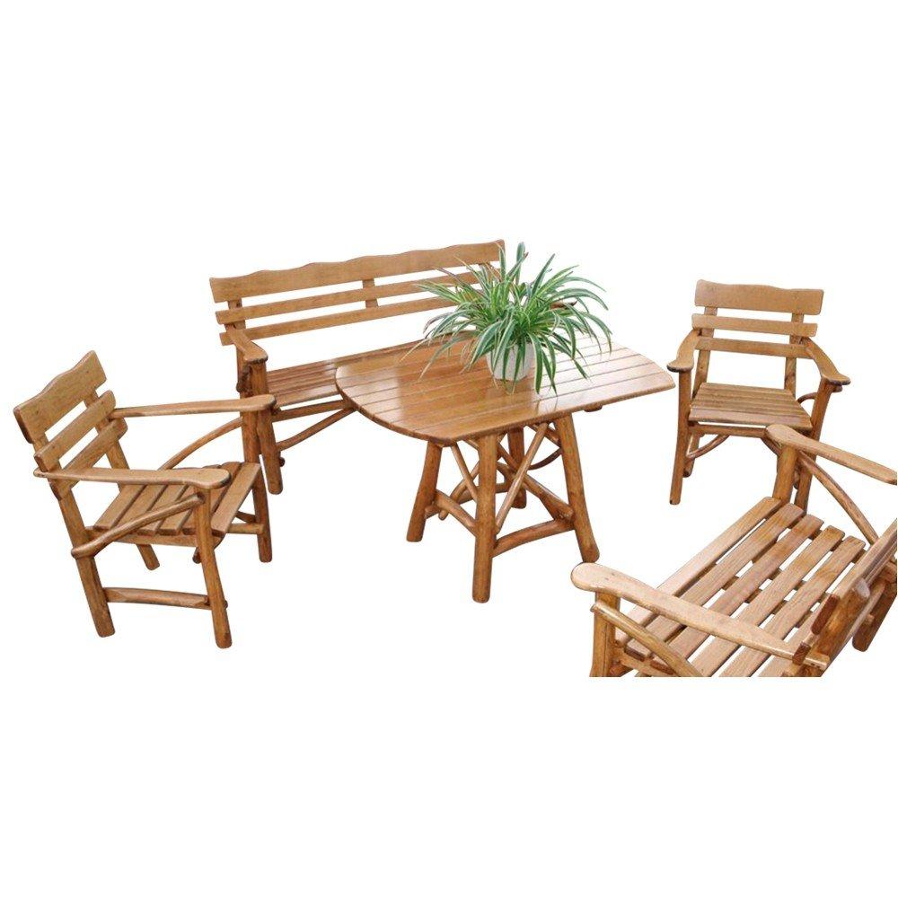 Garten Sitzgruppe 4-tlg Mosel 3-Sitzer Knüppelholz Buche Eiche ...