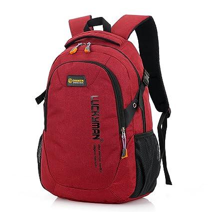 Y6086# Buen material de lino Bolsa de 15.6inch Bolsa de mochila Bolsa de al aire libre Alpinismo (BROWN): Amazon.es: Equipaje