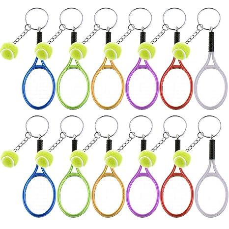 Juego de 12 llaveros de tenis con diseño de raqueta de tenis ...