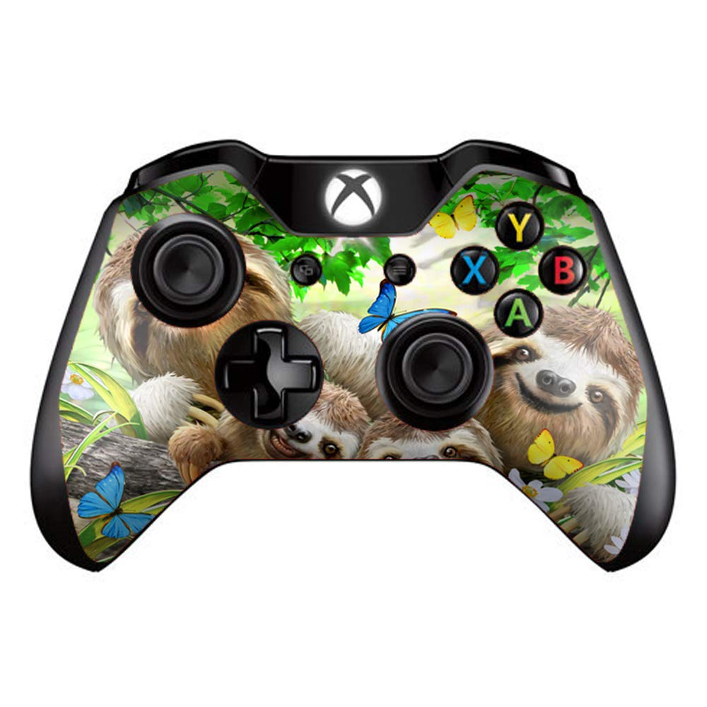 Sloth Family Selfie - Skin Decal Vinyl Wrap for Microsoft Xbox One Controller - stickers skins cover