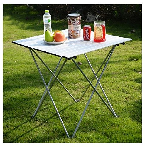 MD Group Outdoor Table Foldable Aluminum Roll Up Light-weight Portable Camping by MD Group