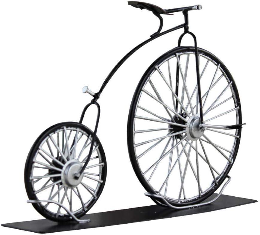 QIBAJIU Estatuas para Jardín Escultura Decorativa Regalo Estatua Decoración De Productos De Hierro De Bicicleta con Ruedas De Hierro