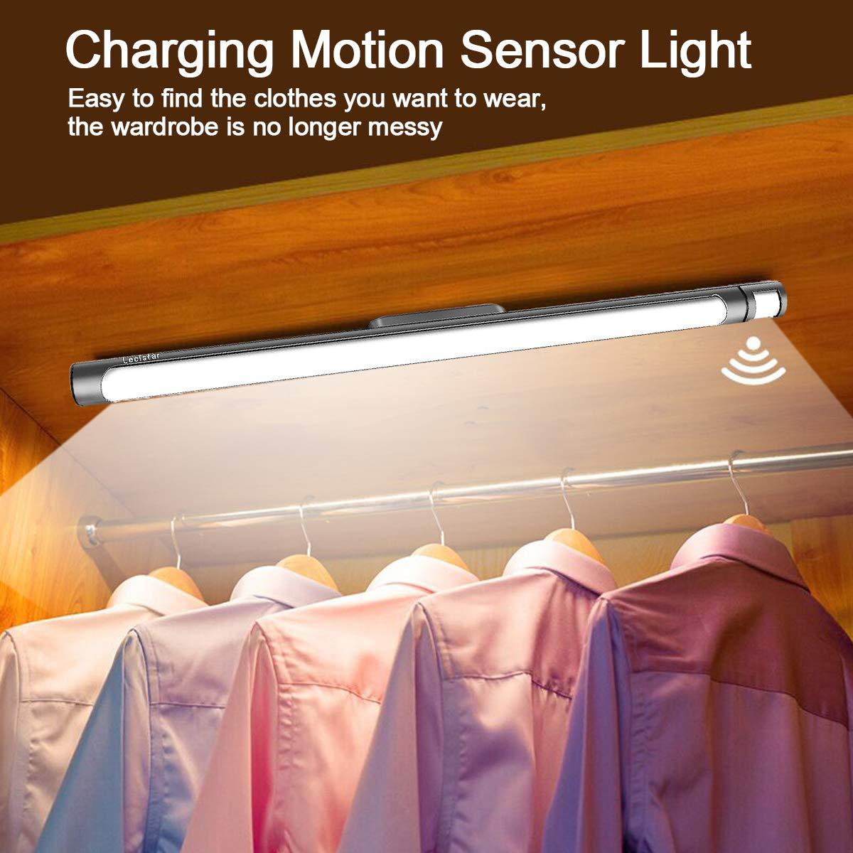 LECLSTAR Motion Sensor Closet Lights for Under Cabinet Lighting,51 LED Wireless Closet Lights Battery Operated Motion Sensor Closet Light Motion by LECLSTAR (Image #2)
