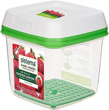 X-L Preservación de plástico caja, 1,5 l, recipiente transparente ...