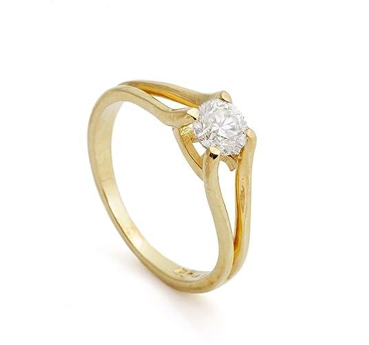 536b761da81 Amazon.com  14k yellow gold 1 carat Diamond Engagement Ring for women  Solitaire promise Bridal Jewelry Anniversary wedding engagement gift   Handmade