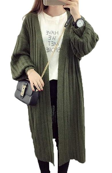 Battercake Rebecas Largo Mujer Otoño Manga Larga Pullover Abrigos Vintage Casuales Mujeres Elegante Anchas Abierto Outerwear