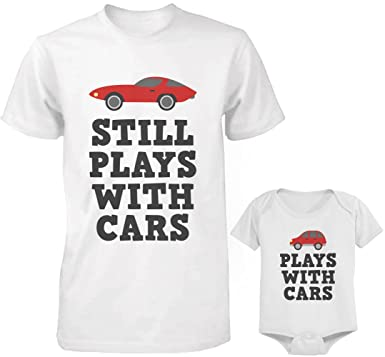 Amazoncom Daddy And Baby Matching T Shirt And Onesie Set Plays