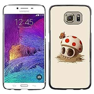 Eason Shop / Hard Slim Snap-On Case Cover Shell - Funny Mushroom Skull Spring Death - For Samsung Galaxy S6 SM-G920