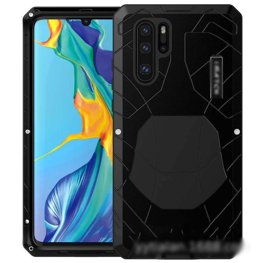ACHAOHUIXI Huawei P20、P20 Pro、Mate10、Mate10 Pro、Mate9、P10、P30 Plus、P30 Pro、P30、P30 Lite、Nova 4e、Mate20 X、Mate20 Pro用の3つのアンチ携帯電話シェル新しい落下防止金属保護カバー電話ケース、メイト20 (Color : 黒, Edition : P10)