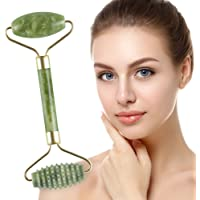 Jade Roller for Face, Beyond Jade Roller Anti-Aging Wrinkgless Used with Oil Serum and Mask