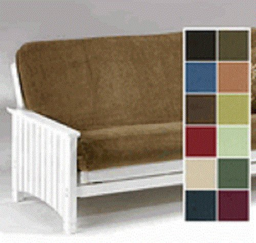 Full Size Quality Bonded Micro Suede Futon Cover, Peat Micro Suede Futon Cover Fabric