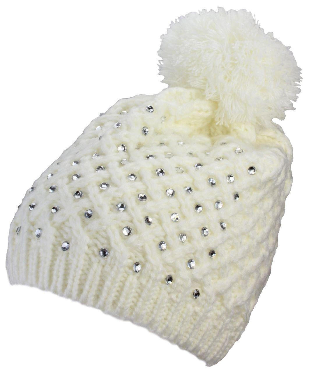 AlexFlittner Designs Gorra Invernal para Mujeres con pompón y ...