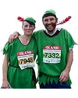Robin Hood Of Sherwood Forest Felt Green Adults Fancy Dress Costume