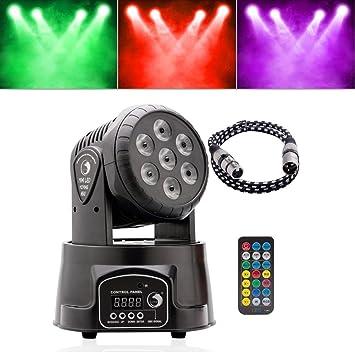 Mouvement Pour Disco Led Dj Bar Tête Club De Scène Lumière Rgbw Télécommande 70w Fête Top En Avec Dmx512 Uking CrExeWoQdB