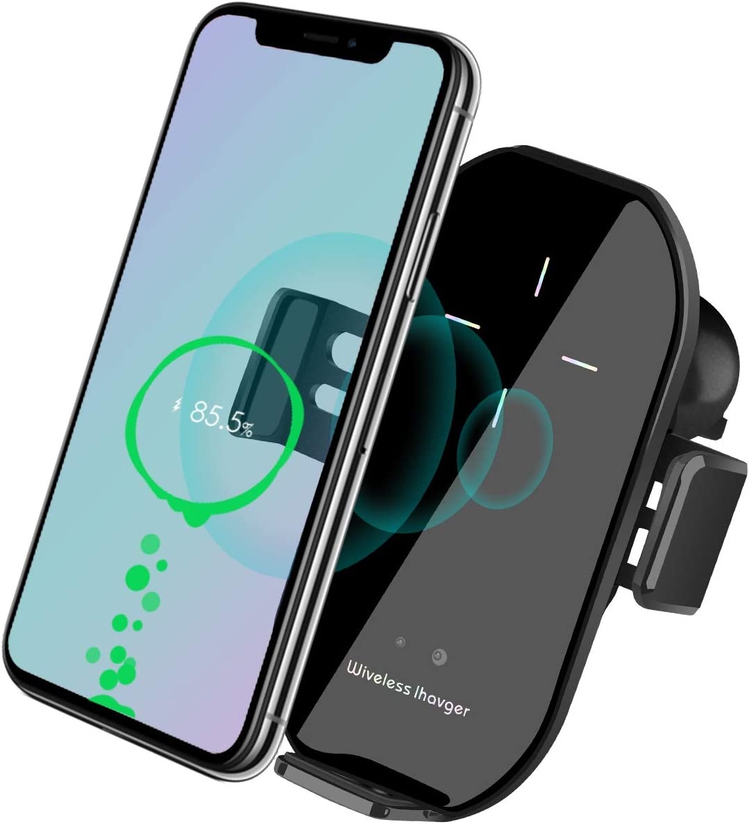 Silver Wireless Car Charger Vent Mount Automatic Clamping 10W//7.5W Fast Charging Air Vent for Car Compatible iPhone 11//11 Pro//11 Pro Max//Xs MAX//XS//XR//X//8//8+,Samsung S10//S10+//S9//S9+//S8//LG V30