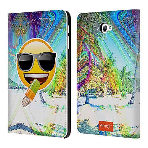 Official Emoji Sunglasses Solos Leather Book Wallet Case Cover For Samsung Galaxy Tab A 10.1 - Sunglasses Accessorize Case