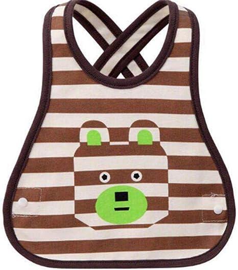 2pcs Babero de algodón resistente al baberos toalla de la saliva, suave cómoda baberos para bebés Mantenga manchas apagado suave, alta calidad, unisex,Brown: Amazon.es: Bebé