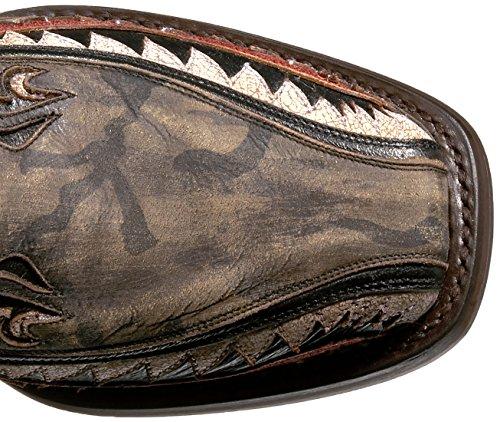 Zapatos De Estaño Para Hombres Botas De Trabajo Sharky Marrón / Verde
