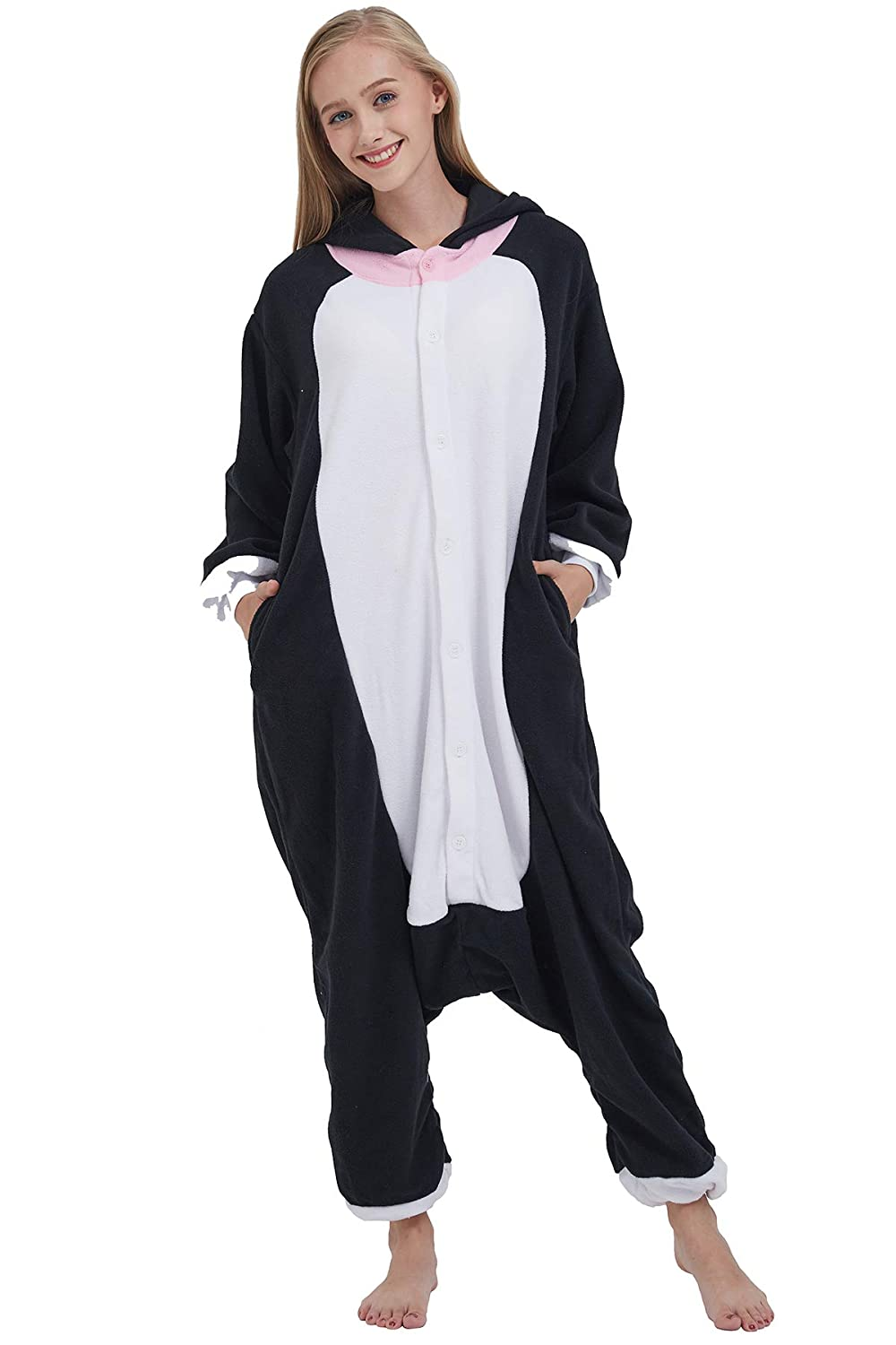 Pigiama Animati Kigurumi Gatto Procione Cosplay Red Panda Animale Adulti da Unisex Uomo Donna