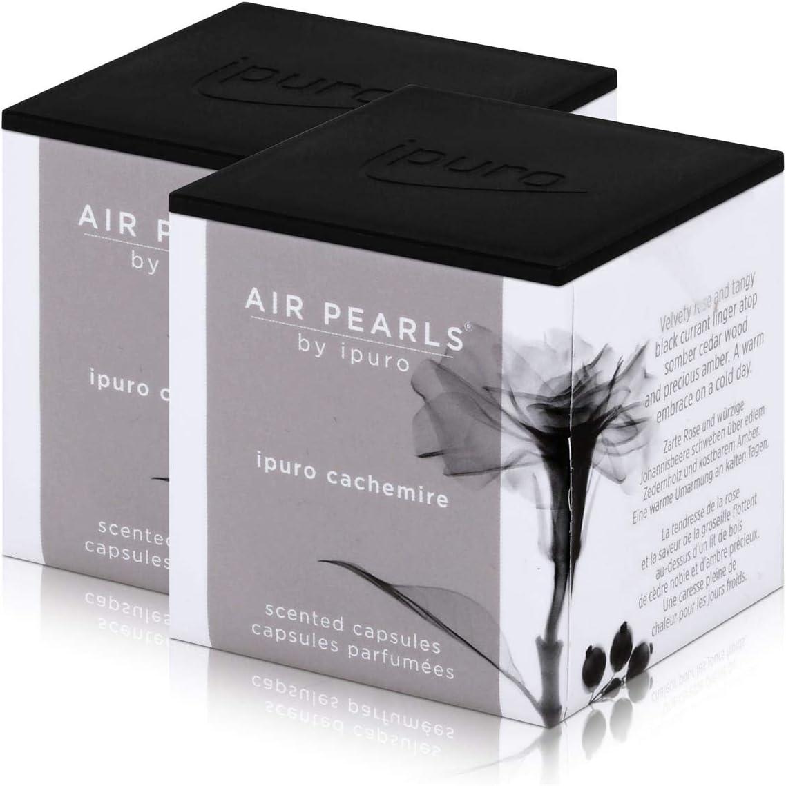 Air Pearls by ipuro cachemire - Cápsulas aromáticas (2 x 5,75 g, aroma a grosella y rosa dulce, flota sobre madera de cedro y ámbar precioso (2 unidades): Amazon.es: Hogar