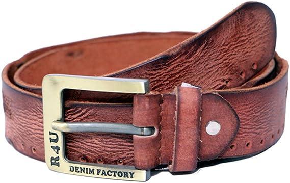 R4U Denim Factory Mens Genuine Leather Stylish Belt