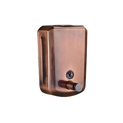 Rozin rojo cobre baño dispensador de jabón 800 ml líquido de montaje en pared soporte para
