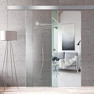 Modern Glass Art - Puerta de cristal deslizante para Boss de diseño interior - Cristal templado de seguridad de 8 mm ...