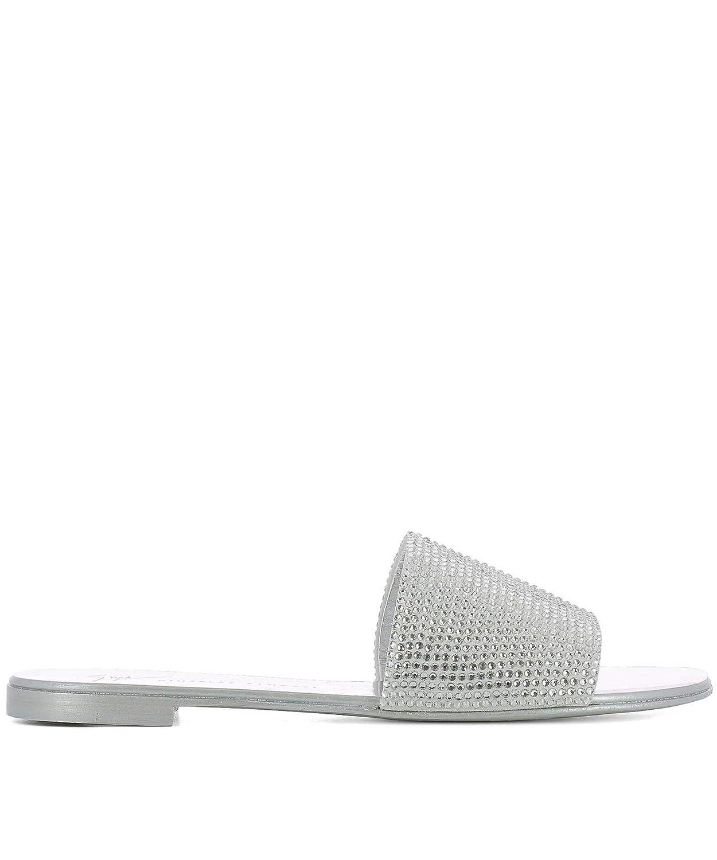- GIUSEPPE ZANOTTI DESIGN Women's E800165001 Silver Leather Sandals