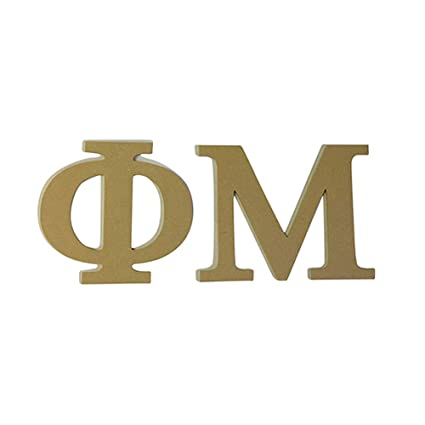 Amazon Phi Mu 75 Unfinished Wood Letter Set Garden Outdoor