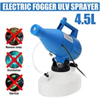 4.5L Electric ULV Fogger, Portable Ultra-Low Atomizer Disinfection Sprayer for Farm, Hotel, Hospital School Outdoor Air Disinfection Machine (Blue) Range 8-10 Meters