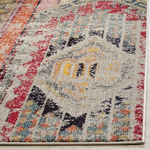 اسعار Safavieh Monaco Collection MNC222G Modern Bohemian Light Grey Distressed Area Rug (9' x 12')