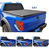 Tyger Auto TG-BC1C9006 TOPRO Roll & Lock Truck Bed Tonneau Cover 2014-2018 Chevy Silverado/GMC Sierra 1500   Fleetside 5.8' Bed Models Without Utility Track System