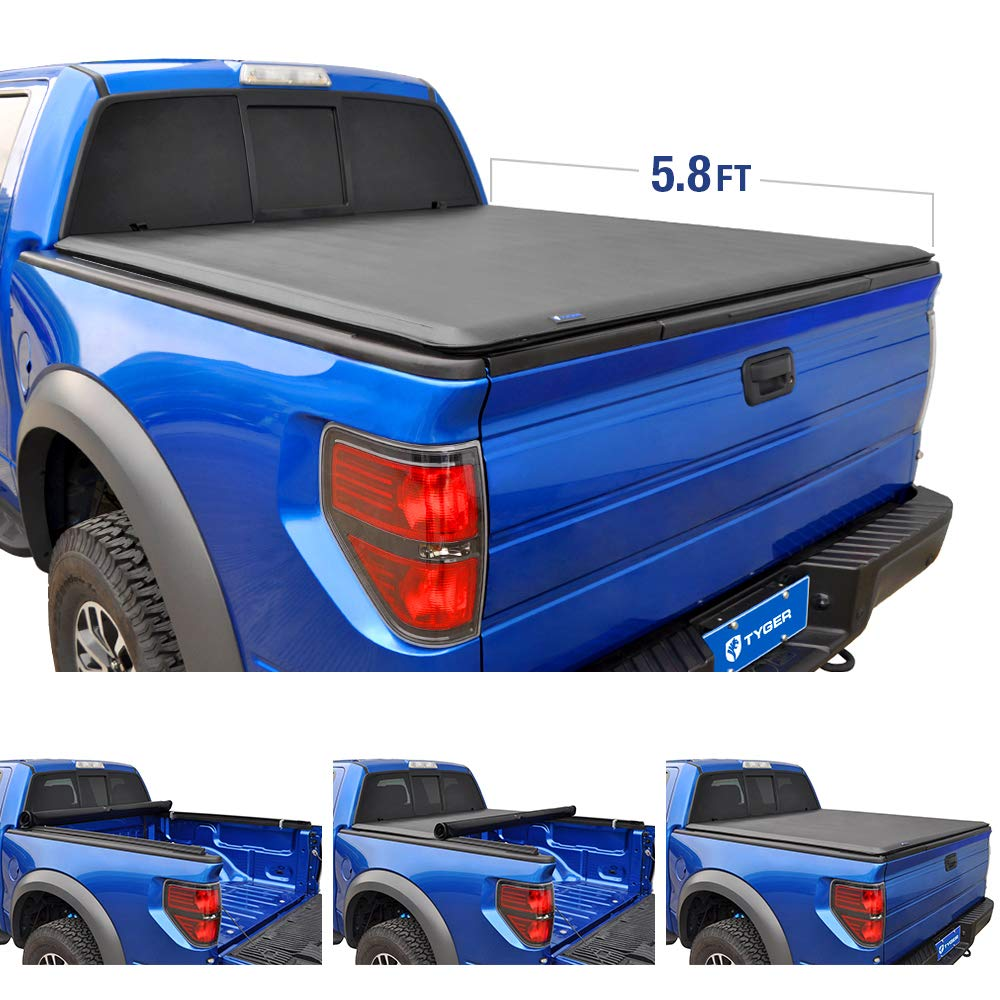 Tyger Auto TG-BC1C9004 Roll Up Truck Bed Tonneau Cover Works with 2007-2013 Chevy Silverado/GMC Sierra 1500; 2007-2014 Silverado/Sierra 2500 3500 HD | Excl. 2007 Classic | Fleetside 6.5 Bed