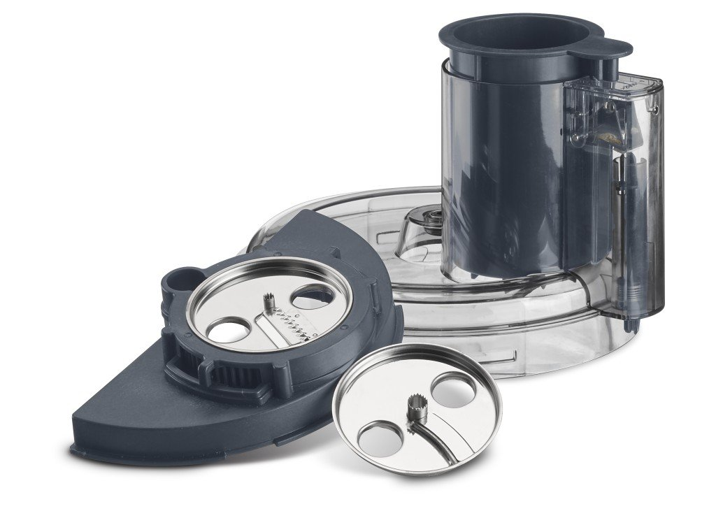 Spiralizer Attachment, Clear Cuisinart FP-13DGM Elemental 13 Cup Food Processor and Dicing Kit, Gunmetal