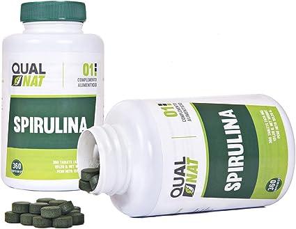Espirulina Comprimidos | Efecto Saciante | Superalimento Rico en Proteínas y Vitaminas | Spirulina 360 Comprimidos Qualnat: Amazon.es: Salud y cuidado personal