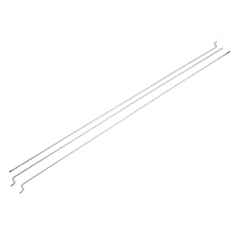 LAQI 3pcs tiges de pouss/ée en Acier Inoxydable dia 1.5mm pour Bateau mod/èle RC 300mm Long