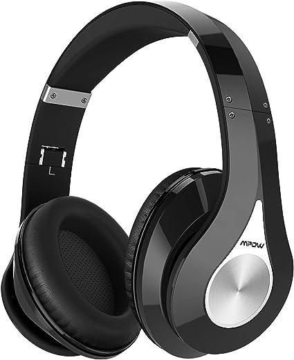 Mpow 059 cuffie bluetooth, cuffie wireless con autonomia 25 ore, microfono incorporato e cvc6.0, fascia morbida ieghevole, riduzione di rumore