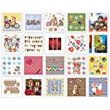 40 Pack All Occasion Assorted Blank Greeting Cards Bulk Box Set -20 Original designs made and print in Canada - Blank on the Inside with color Envelopes Included – 5.25*5.25 Inches | Assortiment de 40 cartes (20 x 2) toutes occasions, design actuel éditée au Canada. Cartes sans texte. Enveloppes de couleur.