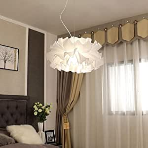 ZXF Romantic Ceiling Lamp Dreamlike Light Iron Cloth Chandelier Bedroom Dining Living Room Restaurant Business Coffee Store E27 Bulbs Warm