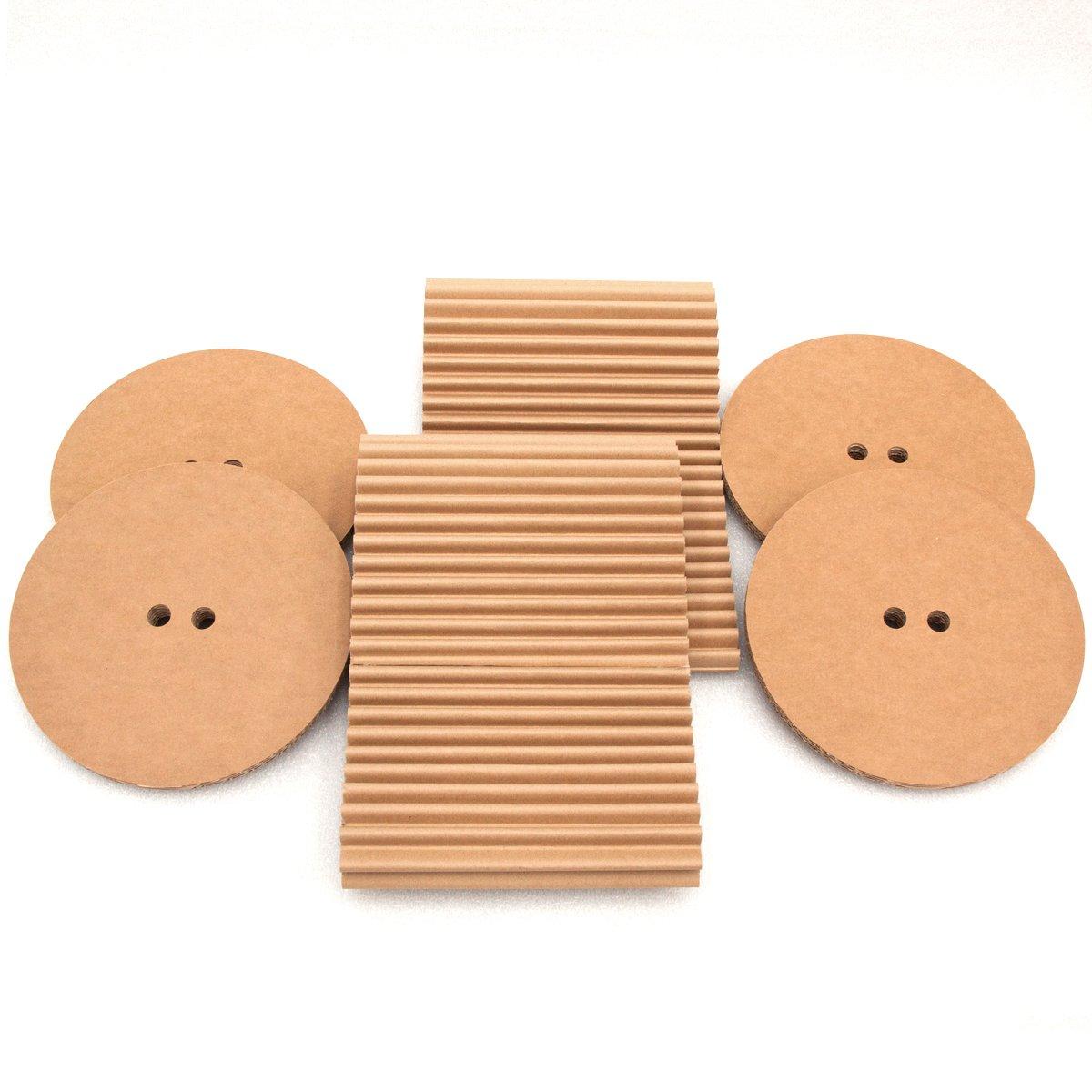 un nuevo tipo de cart/ó Conjunto de taburetes cArt/ù: dos peque/ños taburetes de almacenamiento robustos perfectos para las habitaciones de los ni/ños Realizados en cArt/ù pero tambi/én estupendos como mesitas de noche