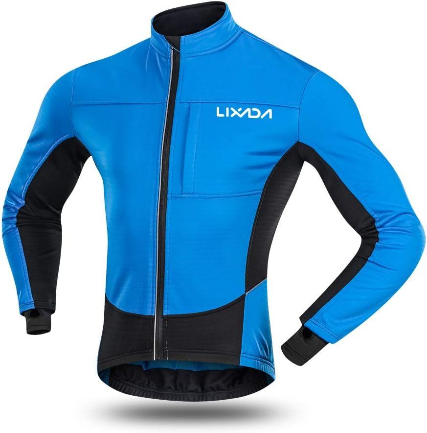 Chaqueta de ciclismo para hombre, resistente al viento, para invierno, forro polar térmico, para ciclismo, equitación, ropa deportiva