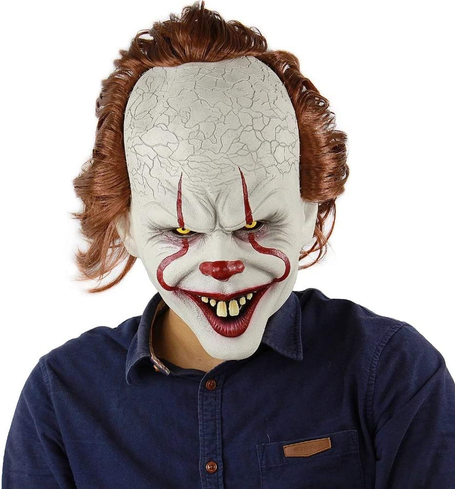 Máscara de Payaso Stephen KingS It Mask Pennywise Horror Clown ...