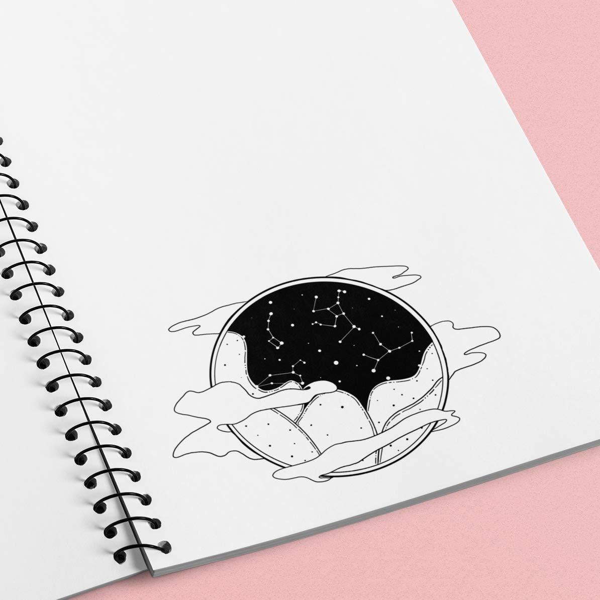 Black and White Constellation Landscape Weatherproof Sticker