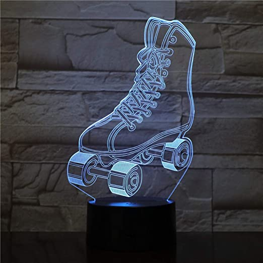 BFMBCHDJ Patines Multi colores 3D RGBW Novedad Lava LED Lámpara de ...