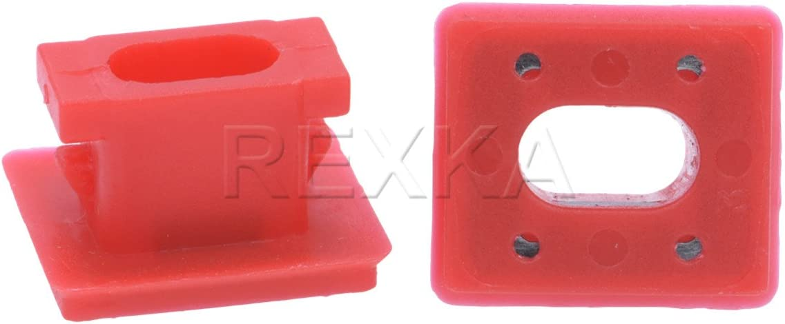 50Pcs Push type Nylon Red fender bumper fastener car clips #51458266814 for BMW