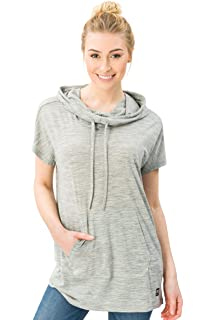 664e44b1387f super.natural Damen W Vacation Funnel Printed Merino Hoodie  Amazon ...