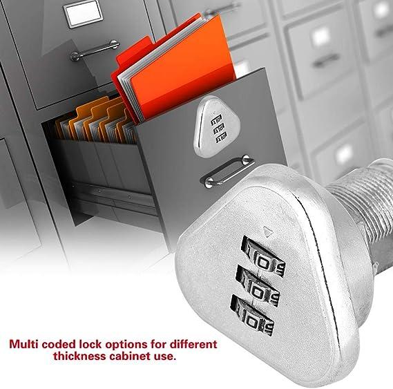 L30.5 Smandy 3 stellige Code Kombination Nockensperre Keyless Security Cabinet Lock Bequemes Passwort Sicherheit Codiertes Schloss Zink Legierung Passwort Codiertes Schloss